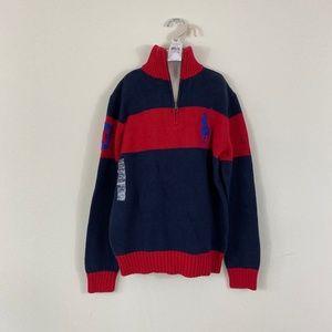 Polo Ralph Lauren Boy's 1/4 Zip Knit Sweater L